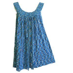 Free People Tunic Dress Blue Space Dye Stretch S